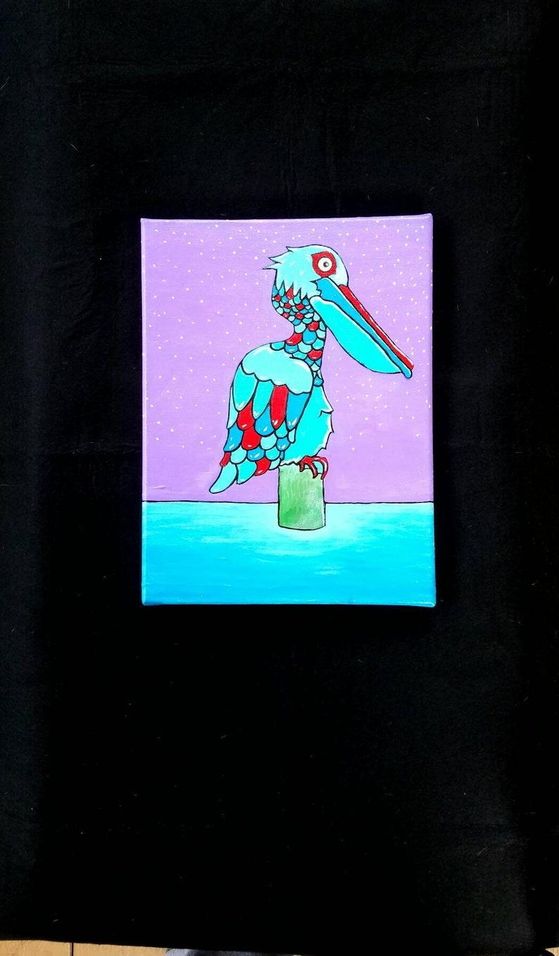 Multicolored pelican