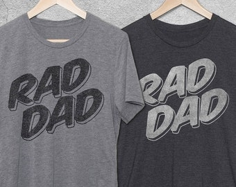 ab9fac37b Fathers Day Gifts For Husband, RAD DAD Vintage Graphic Tee - Rad Dad Tshirt  - Dad Birthday Gift -Funny Shirts for Men - Gift Idea For Dad