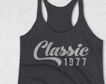 40th Birthday Gifts For Women - Classic 1977 / 1978 Tank Top - 1977 Shirt - 41st Birthday Shirt -Birthday Graphic Tee  - Workout Tank Top