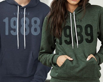 e09896fdddece8 Personalized Birthday Gifts for Him and Her - Vintage Year Hoodie For Men    Women - Custom Birthday Gift Ideas - Hooded Vintage Sweatshirt