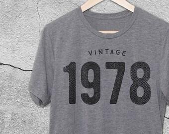 40th Birthday Gifts For Women & Men - Gift for man -Vintage 1978 Shirt -40th Birthday Shirt -40th Birthday Party tee- 40th Birthday T-Shirt