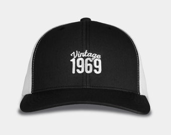 fa666fa285b 50th Birthday Gifts for Men   Women - 1969 Trucker Hat - Vintage 1969 Hats  - Retro Trucker Baseball Cap - 50th Birthday Gift Ideas for him