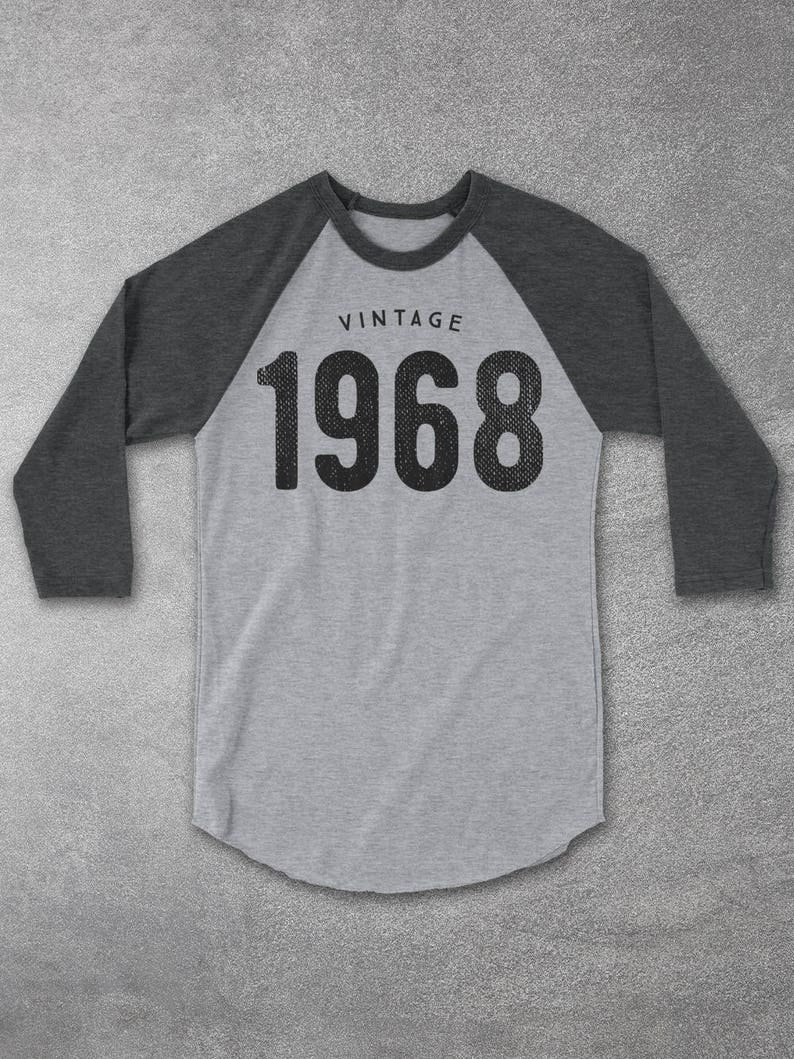 130e35529 Vintage 1968 Raglan Baseball Tee 51st birthday gifts for | Etsy