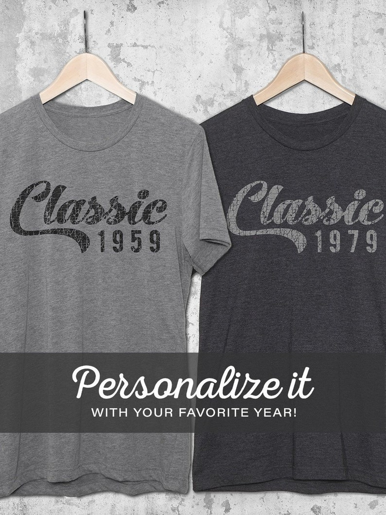 Classic Year Personalized Birthday Shirts For Men Women