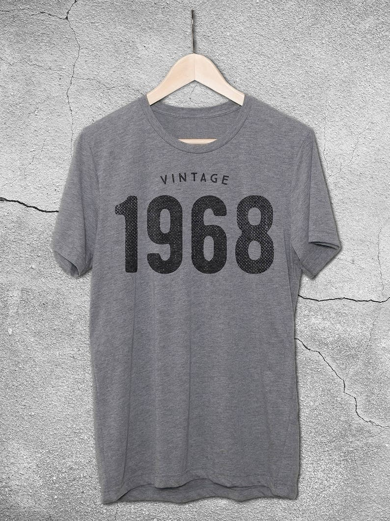 25b632387 Birthday Gift For Women & Men Birthday Shirt Vintage 1968 | Etsy