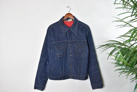 Vintage 70's Dark Blue Denim Jacket