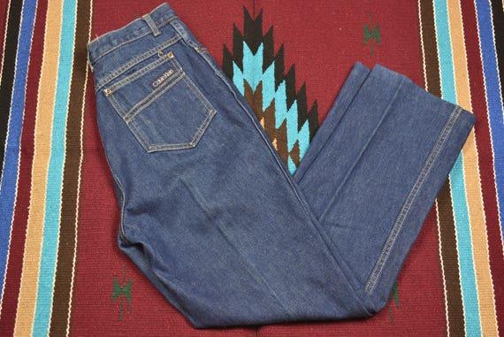 Vintage 70's High Waisted Straight Leg Blue Calvin