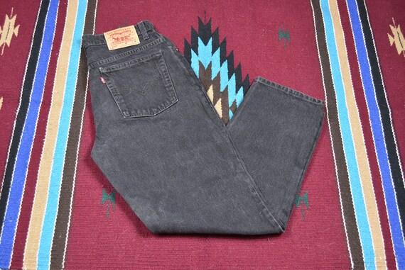 Vintage Black Levis 512 High Waisted Denim Jeans