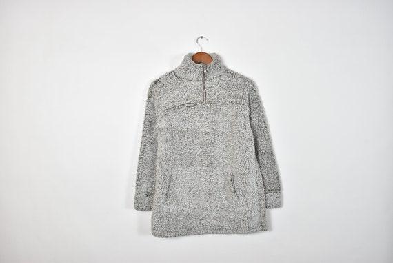 Vintage Grey Cozy Oversized Sheepskin Style Sweate