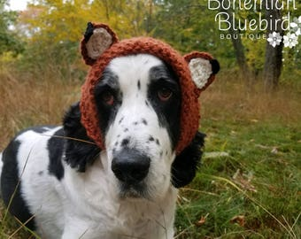 Dog Hat-Dog Fox Hat-Dog Hat for Winter-Dog Snood-Photo Prop-Dog Costume-Dog Clothing