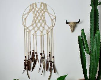 Bohemian Macrame Dream Catcher - Wall Hanging, Native, Spiritual, Home Decor
