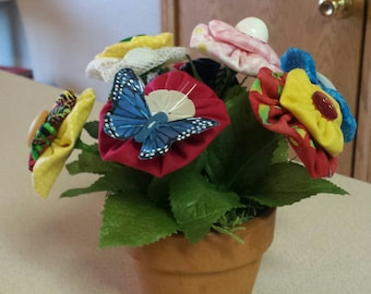Handmade Yo-Yo Flower Bouquet