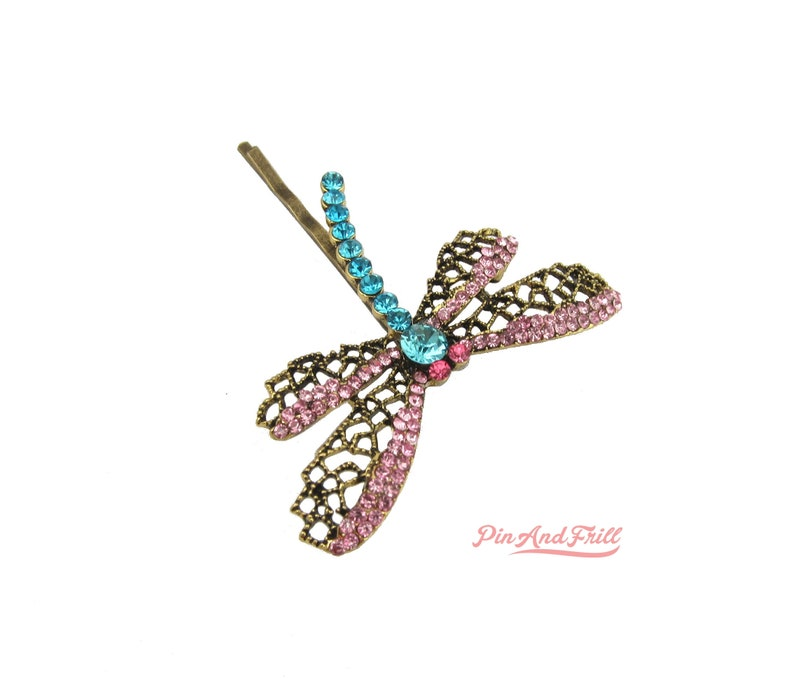 Dragonfly Hairclip Coraline Inspired Hairpin Bobbypin 1 Piece Hair Women S Accessories Sparkel Si