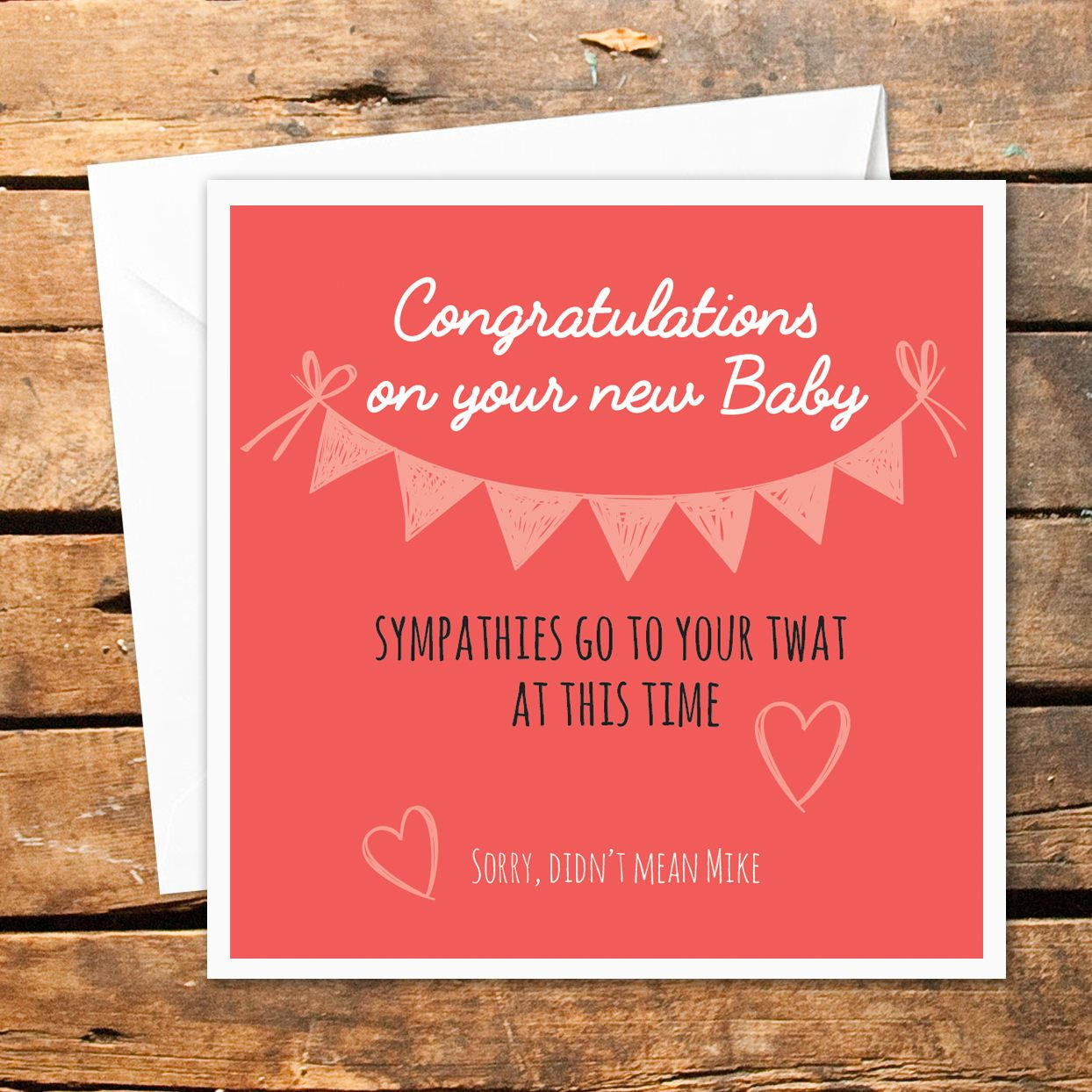 Personalised Baby Shower Card Congratulations Funny Rude | Etsy