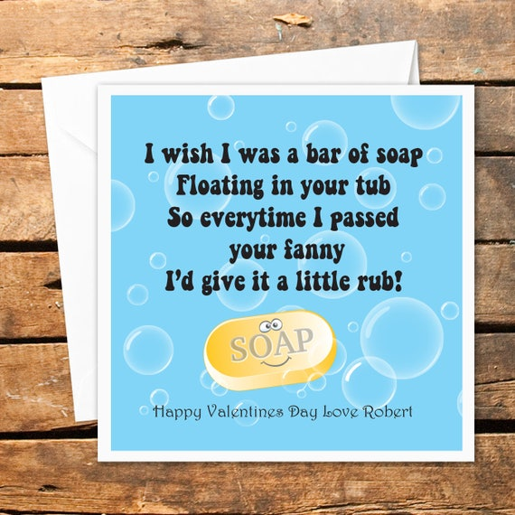 Personnalise Happy Valentines Day Carte Drole Humour Adulte Etsy