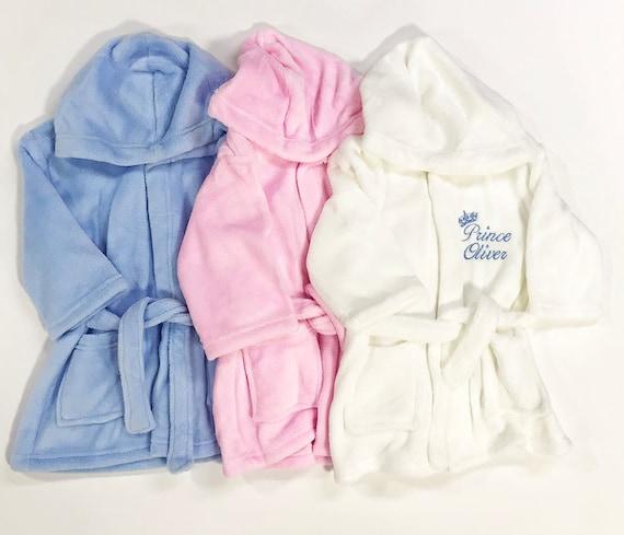Personalised Baby Toddler Boy Girl Fleece Hoodie Hooded Top Blue and Pink