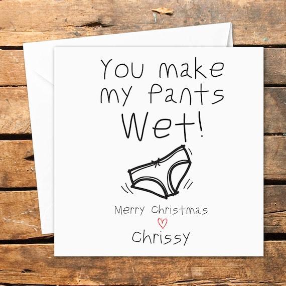 Personalisierte handgemachte Weihnachten Grußkarte lustig | Etsy