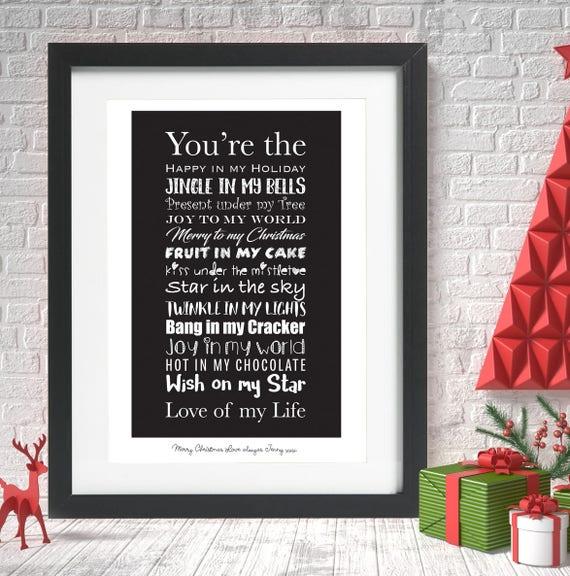 Carte de Noël femme//MARI//petite amie//boyfriend//Maman Papa etc personnalisé