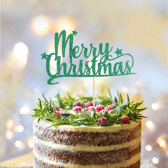 Party Supplies Gifts Merry Christmas Acrylic Decor Ho Ho Ho Letters Cake Topper