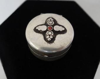 Vintage Oxidized Silver Jewelry Box