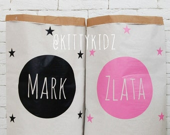 Customized Kraft Paper Storage Bags for toys