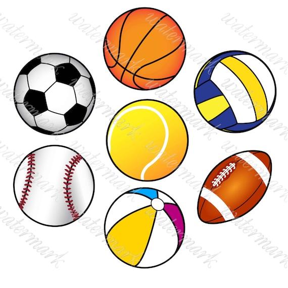 balls digital soccer digital sport clip art sports clipart etsy rh etsy com sports balls clip art black and white sport balls clipart