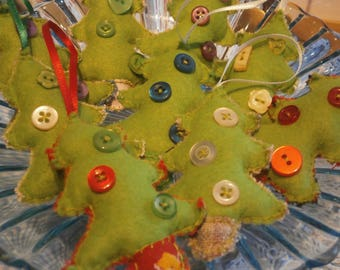 Felt hanging Christmas trees decorations