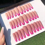Neon Tip Press on Nails | Summer Nails | French Nails | Matte Nails | Tropical Nails | Nude Nails | Glue On Nails | Any Shape