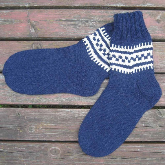 Men's Winter Wool Socks Ornament Hand Knitted #15. Beige qaSwUdu