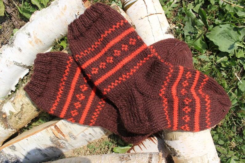 Women/'s hand knit winter socks  Handmade Knitted Warm Wool Sock