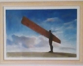 Gateshead Angel of the North original painting