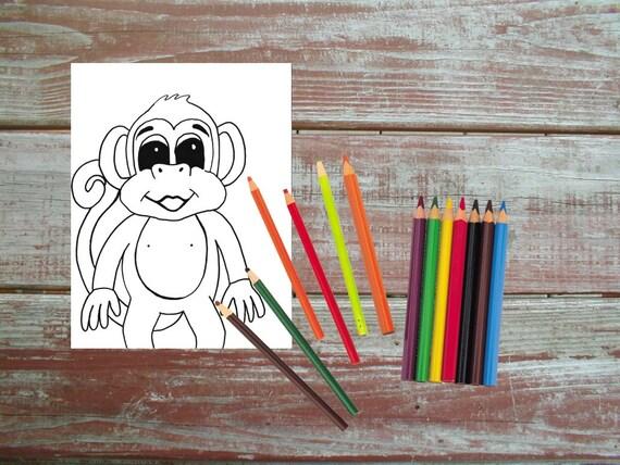 Affe druckbare Malvorlagen bedruckbar Kinder Färbung | Etsy