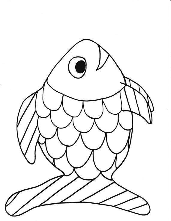 Kleurplaten Van Een Regenboog.Regenboog Vis Afdrukbare Kleurplaten Pagina Vis Afdrukbare Kinderen Kleurplaat Instant Download Zwart Wit Kunst Handgemaakt Hand Tekenfilm