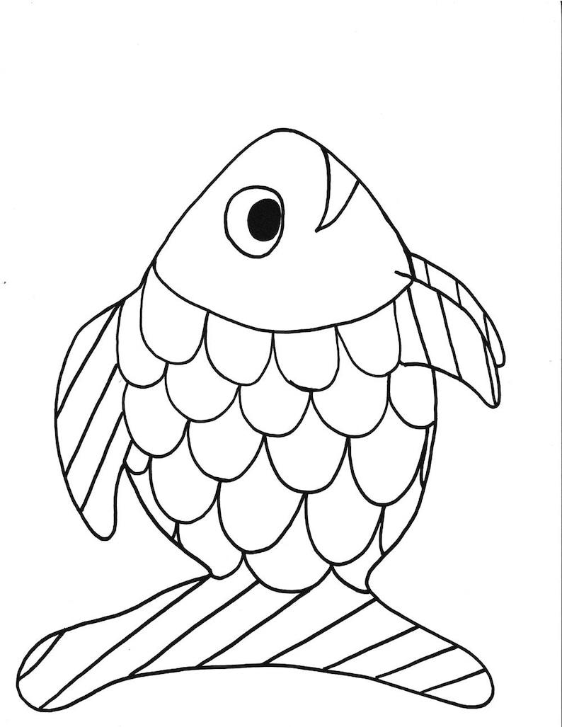 regenbogenfisch vorlage regenbogenfisch ausmalbild
