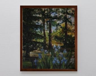 Original oil painting, nature, mountain landscape, original painting, original artwork, art, wall art