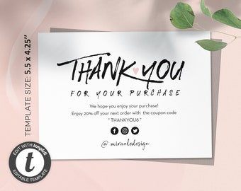 Business Thank You Etsy