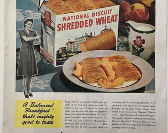 Image result for Shredded wheat in the 40's