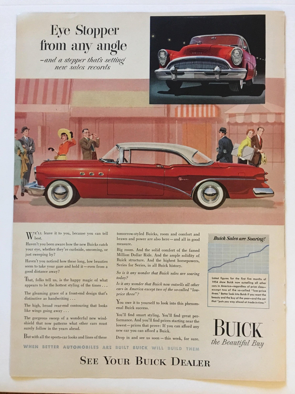1954 Buick Fireball Ad from LIFE magazine