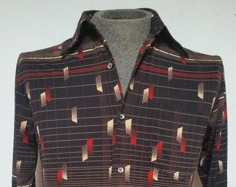 Vintage 1970s Retro Disco Slim Fit Shirt