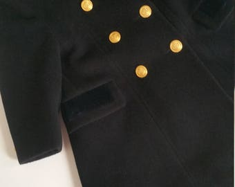 Cashmere and wool made in ltaly girls dress coat