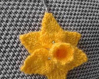 Daffodil  or Poppy Key Ring