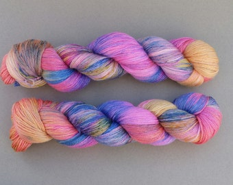 Shiny Things- Hand Dyed Sock Yarn - 100g - Superwash Merino - Tencel