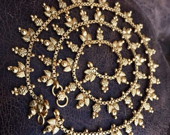 1c26e8aa365777 Antique Gold Plated Payal | Gold Plated Anklets | Bridal Anklets