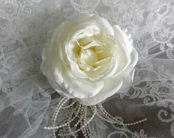 Wedding Hair Flower, Ivory Hair Flower, Bridal Hair Piece, Flower Wedding Hair Piece, Bridal Hairpiece, Bridal Hair Accessory