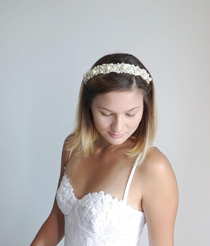 Pearl headband,Wedding Headpiece,Jewelry Tiara,Bridal tiara Bridal head band Wedding hair Accessories,