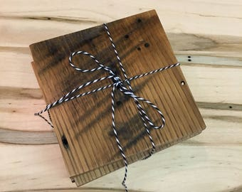 Wormy Chestnut // Coasters // Set of 4 // Wood