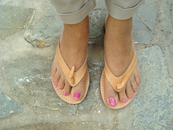Brown Summer SandalsLeather FlatsHypatia FlopsGreek Flip Womens WCerxBod