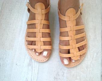 Brown Gladiator Sandals, Gladiator sandals, Greek Leather Sandle, Greek Style Sandals, Spartan Sandals, Ancient Greek Sandal, Andromache