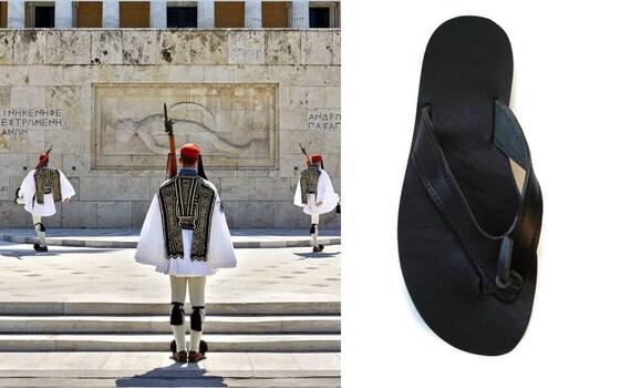 Greek Ifigeneia sandals Summer Leather sandals sandals flops sandals Womens Black leather Leather flats sandals Greek flip Bwaaqp