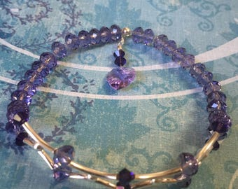 Sterling Silver and Swarovski Crystals Bracelet.